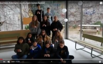 Els alumnes d'alemany us desitgen bones festes!