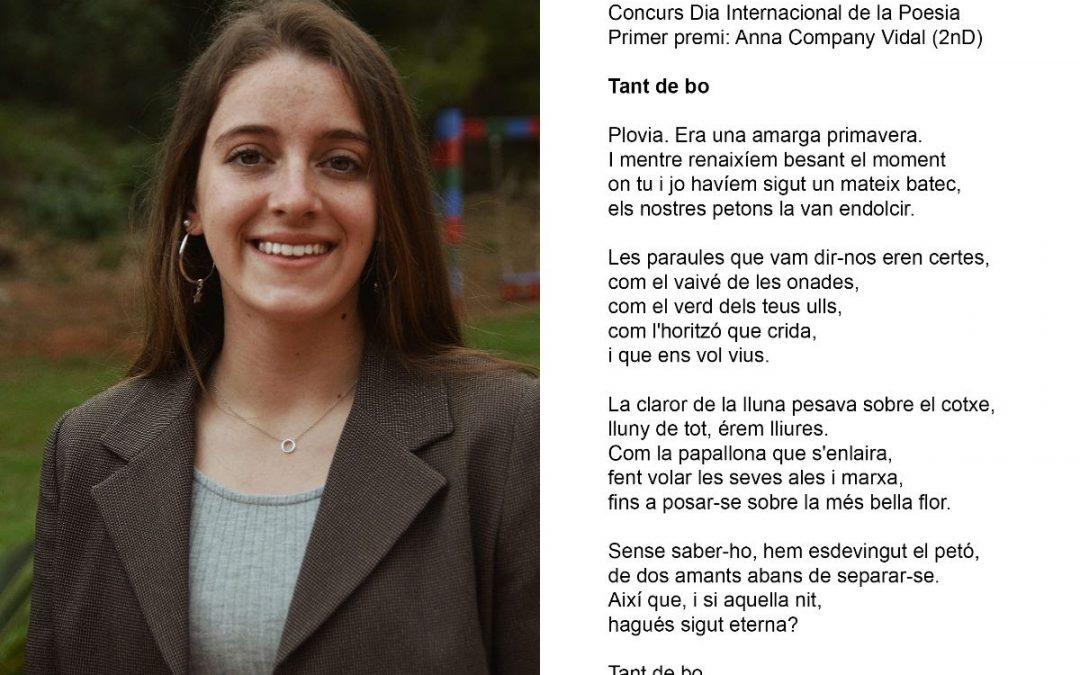 Ana Company guanya el concurs de poesia del Milà