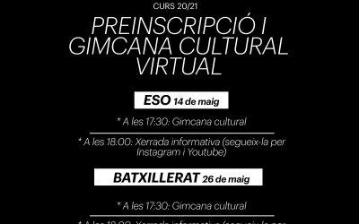 Gimcanes culturals virtuals: preinscripció curs 2020/2021