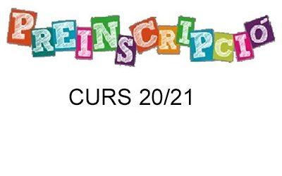 Preinscripcions curs 2020/2021