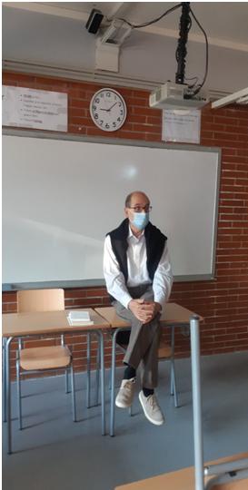 Pere Martí i Bertran, al Milà i Fontanals. Hi va presentar el llibre de haikús Taroda (Andana editorial)